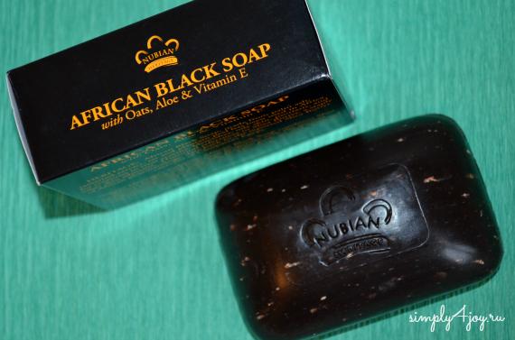 африканское черное мыло Nubian Heritage