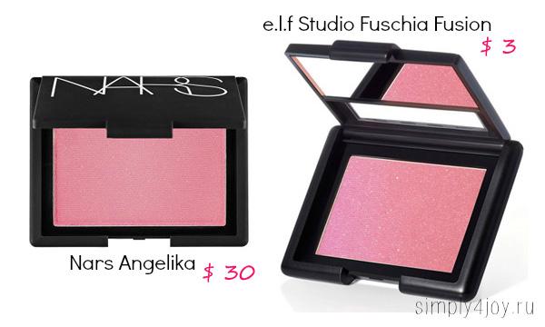 Nars Angelika vs e.l.f Fuschia Fusion