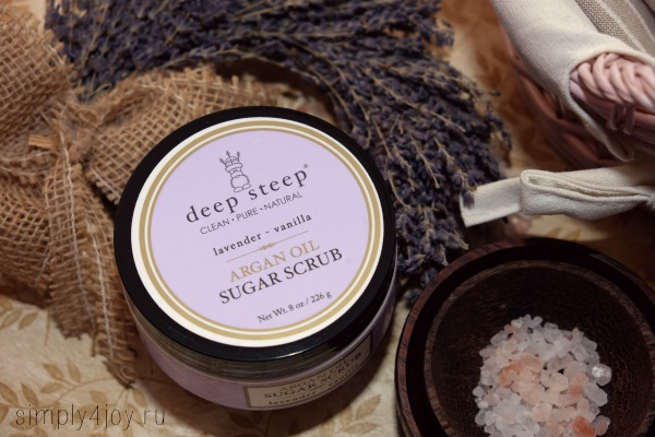 deep steep argan oil sugar scrub