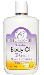 Carlson Labs, E-Gem, Body Oil