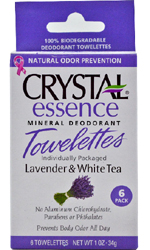 Crystal Body Deodorant, Essence Mineral Deodorant Towelettes