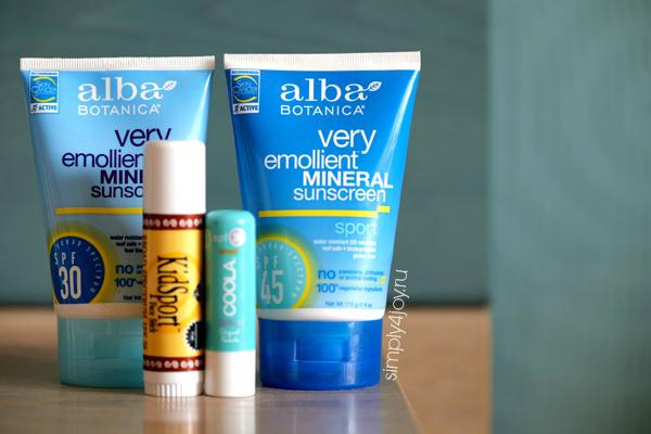 мои средства защиты от солнца