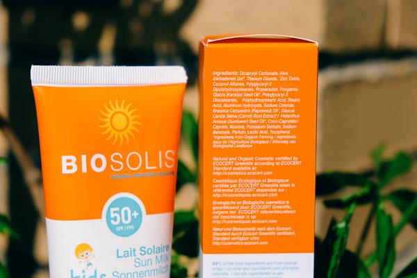 Biosolis солнцезащитное молочко для тела детское