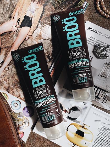 летние покупки пивной шампунь BROO для волос