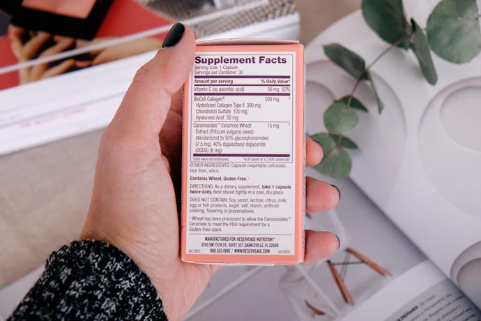 церамиды для кожи коллаген Reserveage Nutrition состав