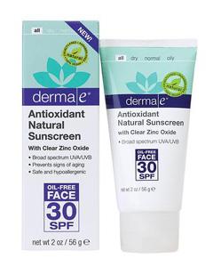 солнцезащитный крем Derma E для лица
