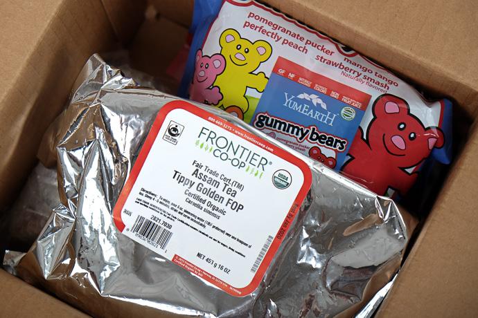 iherb посылка органический чай Frontier