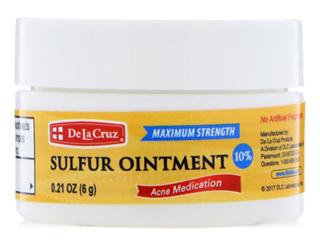 серная мазь от акне, De La Cruz, Sulfur Ointment