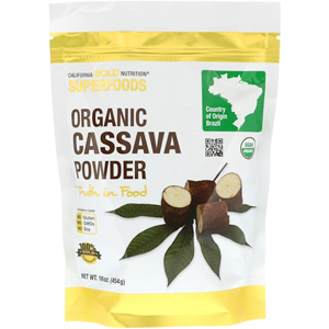 California Gold Nutrition, Organic Cassava Powder