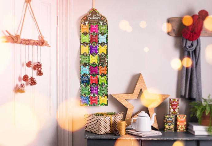 чайные подарки адвент календарь Pukka