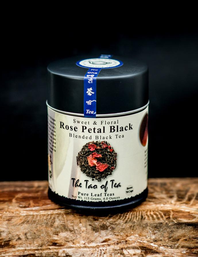 черный чай с розой
