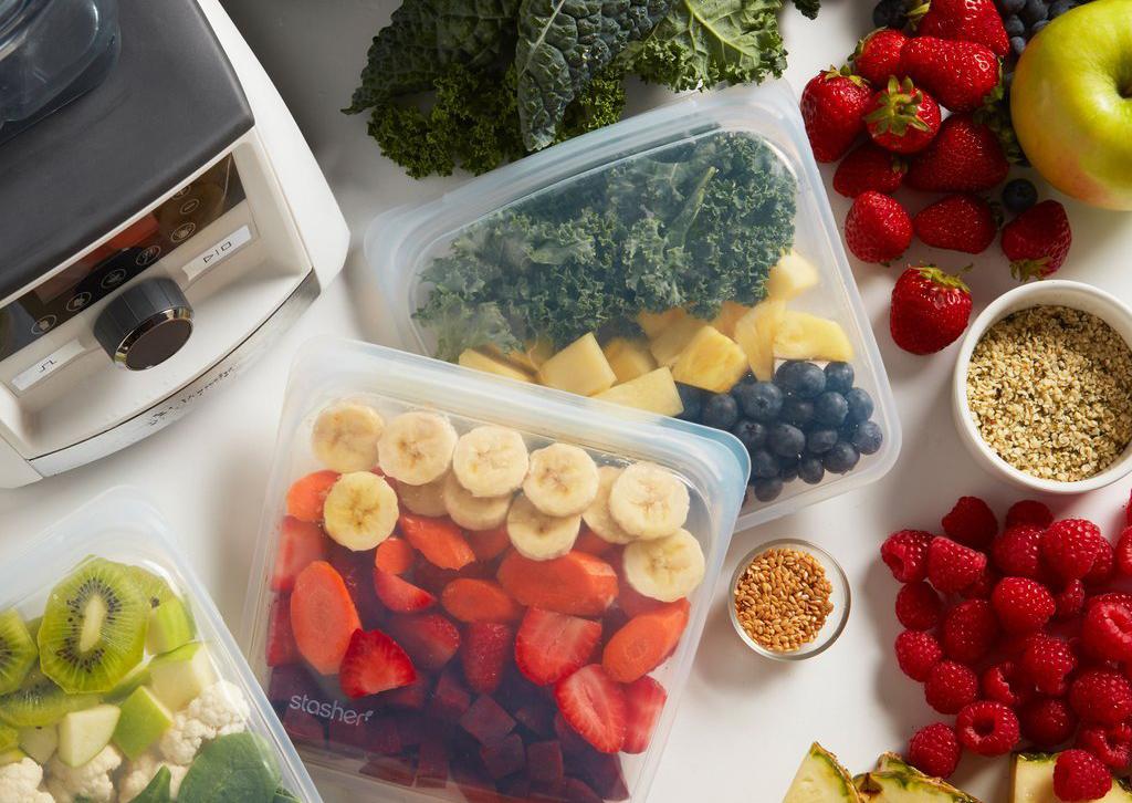 многоразовые пакеты Stasher для хранения продуктов