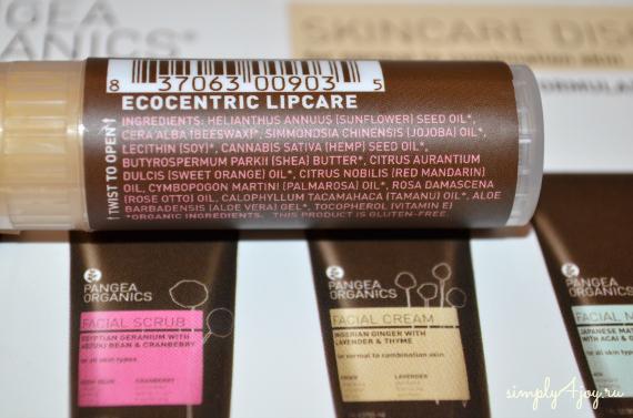 Pangea Organics, бальзам для губ Мандарин и Роза