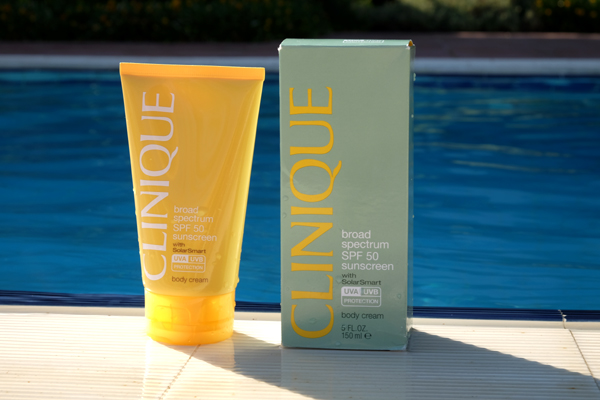 Clinique Broad Spectrum SPF 50 sunscreen box
