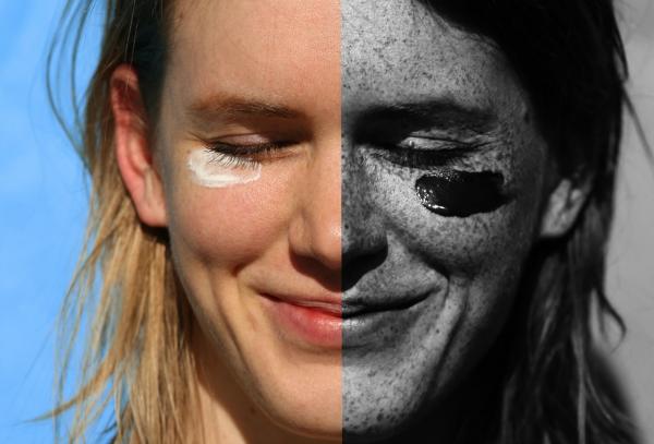 кожа под ультрафиолетом