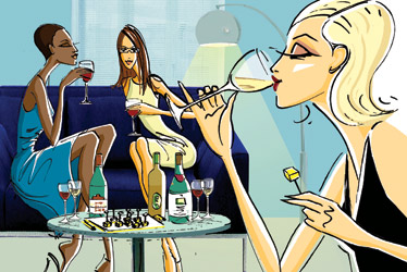 women-and-wine
