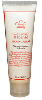 Крем для рук с кокосом и папаином Нубиан