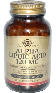 весенние витамины альфа-липоевая кислота Солгар