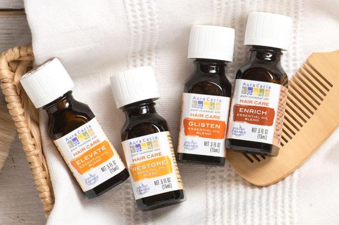 Aura Cacia эфирные масла для волос