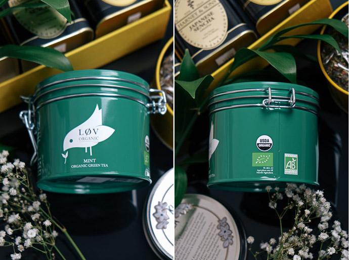 чай в жестяной банке, lov organic