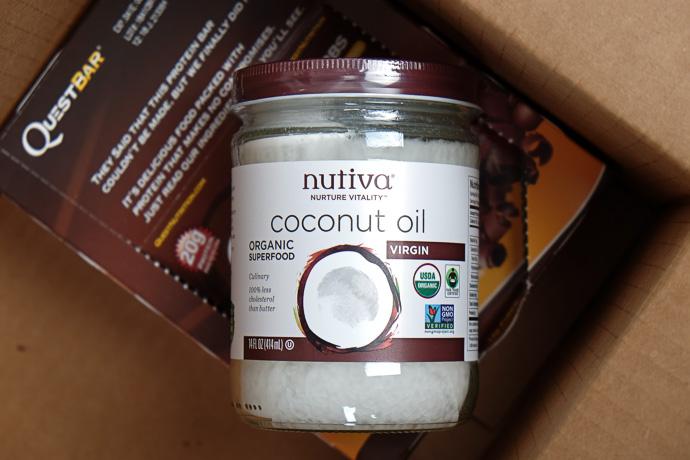 iherb посылка кокосовое масло Nutiva