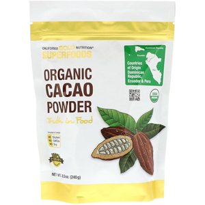 California Gold Nutrition, Organic Cacao Powder