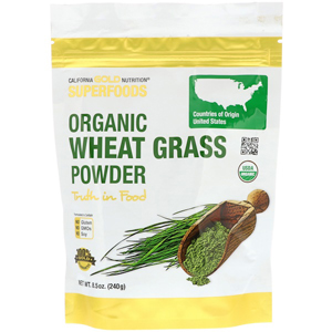 California Gold Nutrition, Organic Wheat Grass Powder